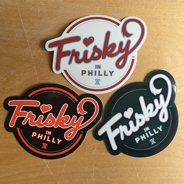 Frisky In Philly Stickers