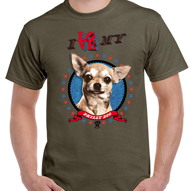 "I Love My Dog Schnauzer Animal Lover T Shirt Design T: ""I Love My Philly Dog"" T-Shirt (Chihuahua)"