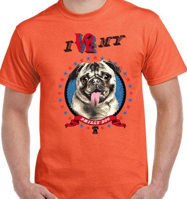 philly-dog-pug-tshirt-orange